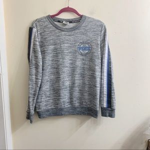 PINK limited edition gray crew neck pullover small
